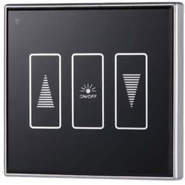 无线触摸屏调光开关 3键1路 86型单火线 智能家居调光面板配件
