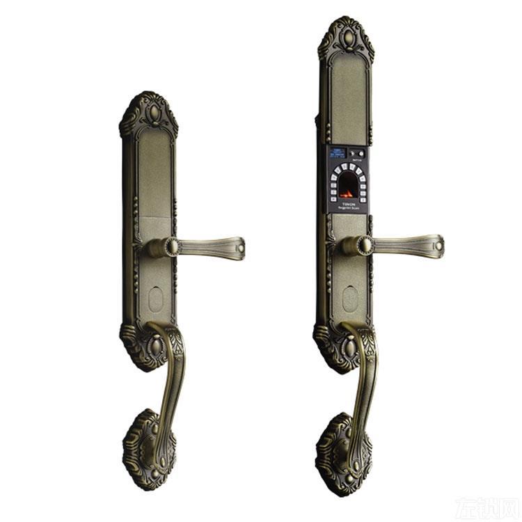 亚太天能指纹锁 欧式复古滑盖指纹锁 高档指纹密码锁