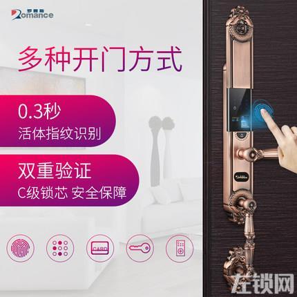 罗曼斯全自动智能锁DD2 家用防盗门指纹锁密码电子入户门锁