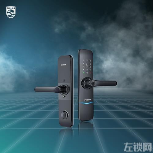 飞利浦智能锁7100DS:采用IML拉丝工艺,指纹传感器融于把手处