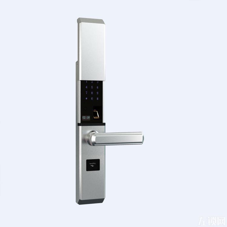 古来智能指纹锁 电子指纹密码锁 滑盖智能锁