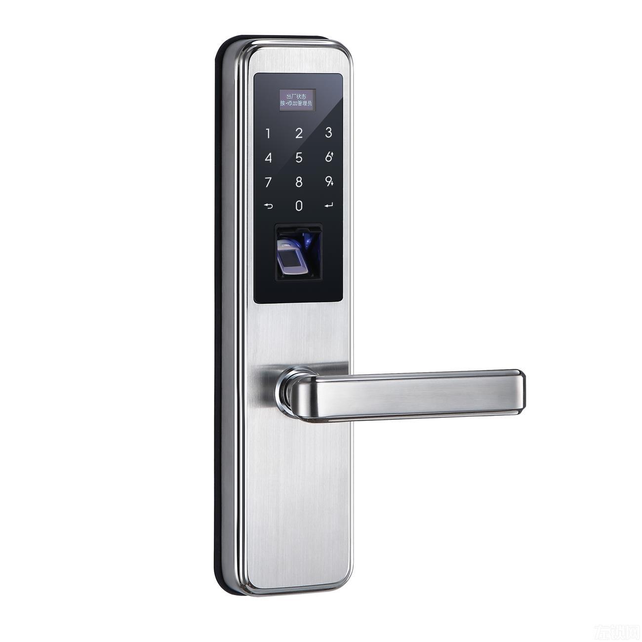 思歌451指纹密码锁 304不锈钢/防盗防火锁体A451-BB/RG/SN
