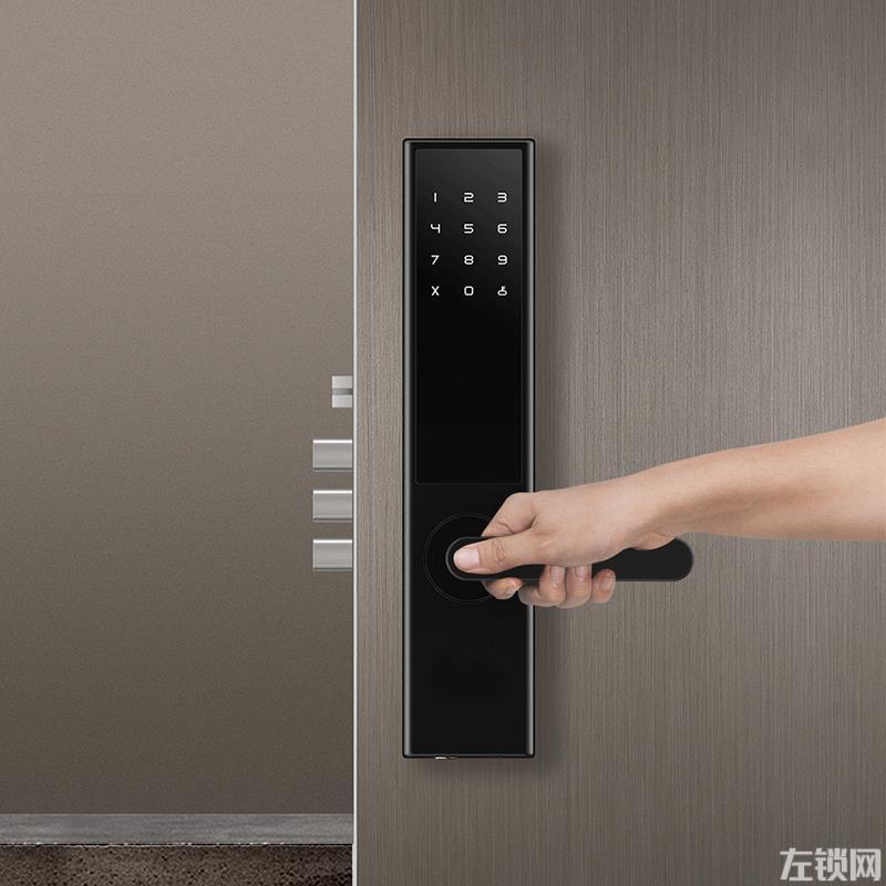 指纹锁 直板智能锁 电子门锁 防盗门密码磁卡锁KZW-04